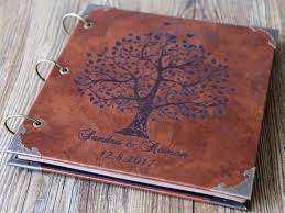 leather photo albums engraved personalized engraved leather photo album custom family tree