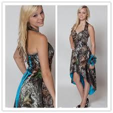 mossy oak camo bridesmaid dresses custom made strapless hi lo