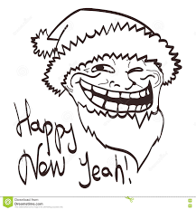 New Meme Face - vector cartoon meme new year face eps 10 stock vector