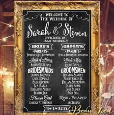 wedding program sign wedding program chalkboard sign large wedding chalkboard