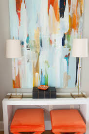 best 25 orange painting ideas on pinterest orange art orange orange bench stools under sideboard with fabulous large abstract art