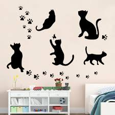 compare prices on cat 5 switch online shopping buy low price cat 5 pcs big cat set hot selling removable wall sticker black cat home decoration stickers diy