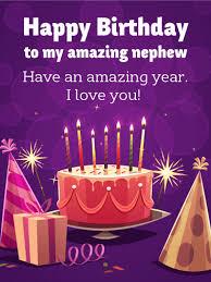 amazing happy birthday candle an amazing year happy birthday card for nephew birthday