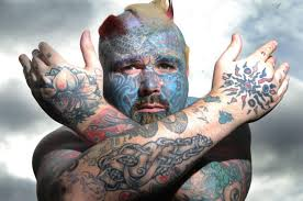 ink redible britain u0027s most tattooed man pays to have them removed