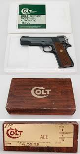 colt 1911 ace post war service model 22 lr semiauto pistol lnib
