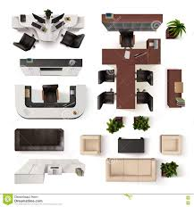 Office Chair Top View Clipart Office Chair And Table Top View Realistic Isolated Furniture
