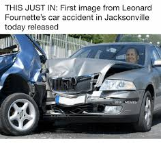 Car Accident Memes - this just in first image from leonard fournette s car accident in
