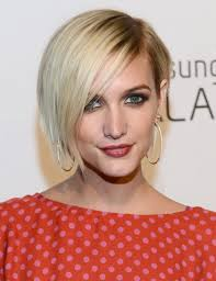 side pictures of bob haircuts short blonde bob hairstyles with side bangs ashlee simpson wentz