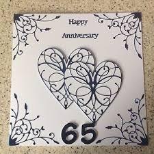 65 wedding anniversary handmade blue sapphire wedding anniversary card happy 65 th