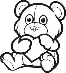 free printable valentine u0027s teddy bear coloring kids