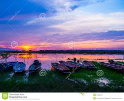 thai country life style fishing by thai boat stock photo image