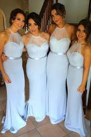 sky blue mermaid simple cheap long bridesmaid dresses elegant