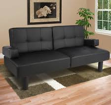 best choice products sky1816 convertible futon sofa bed black ebay