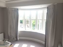 Window Treatments For Bay Windows In Bedrooms - curved bedroom curtain bay window with zoffany trim bay window