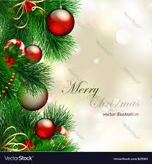Decoration Christmas Vector by Christmas Background With Decorated Christmas Tree