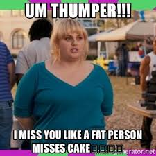 Fat Person Meme - um thumper i miss you like a fat person misses cake