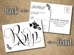 wedding postcards diy wedding rsvp postcard word template vintage