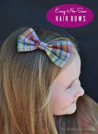 cool hair bows diy no sew bow tie hair bows make lovely