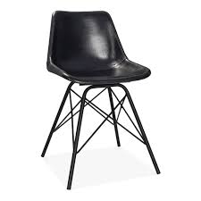 Dexter Rocking Chair Black Leather Dexter Metal Dining Chair Industrial Kitchen Chairs