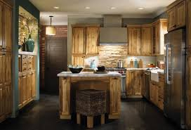 hickory kitchen island rustic hickory kitchen cabinets indelink com