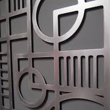deco panel no 2 23 x 46 in brushed aluminum wall sculpture u2014 moda