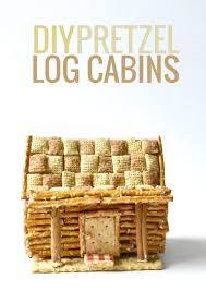 how to make a pretzel log cabin youtube