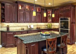 Country Cabinets For Kitchen Country Kitchen With Cherry Cabinets Paint Kitchen Cabinets