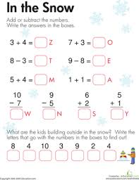 free addition and subtraction worksheets for first grade worksheets