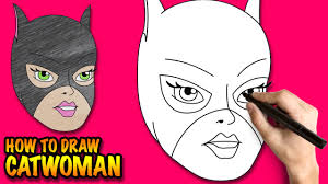 Easy Halloween Pictures To Draw How To Draw Catwoman Easy Step By Step Drawing Lessons For Kids
