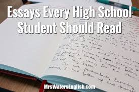 teach for america essay sample essays every high school student should read