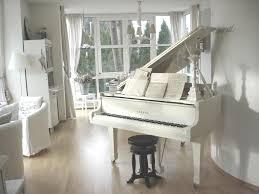 piano living room white chippy shabby chic whitewashed