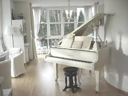 Shabby Chic Livingroom Piano Living Room White Chippy Shabby Chic Whitewashed