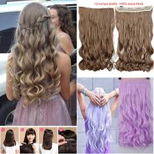 one clip in hair extensions aliexpress buy newly design one curl curly wavy