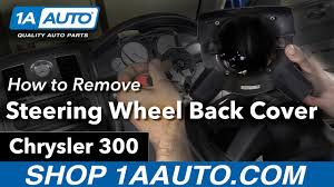 chrysler steering wheel how to remove install steering wheel back cover 2006 chrysler 300