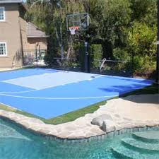 Backyard Basketball Court Home Basketball Court Backyard Tennis Courts Basketball Court