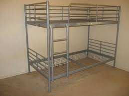 Ikea Tromso Bunk Bed Silver Very Study With Instruction Book - Ikea metal bunk beds