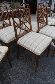Chinese Chippendale Dining Chairs Set Of Eight Century Faux Bamboo Chinese Chippendale Fretwork
