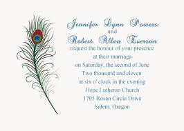 wedding invitations design online simple and green printable peacock wedding invitation ewi207