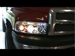 99 dodge ram led lights dodge ram halo headlights and sound test
