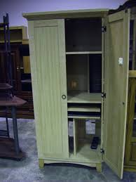 cabinets appealing beautiful solid oak computer armoire with