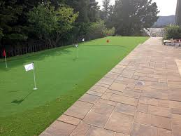 Small Backyard Putting Green Artificial Grass Manhattan Beach California Landscape Ideas