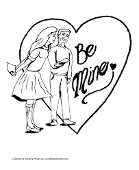 valentine u0027s day hearts coloring pages a boy and a and a