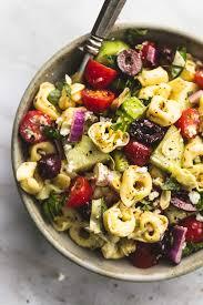 Pasta Salad Recipes With Italian Dressing Greek Tortellini Pasta Salad Creme De La Crumb