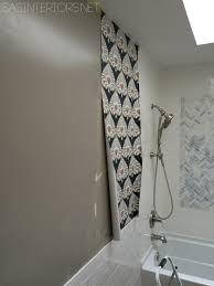 bathroom makeover installing wallpaper day 17 jenna burger