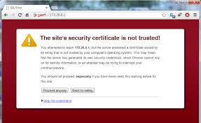 https how https how to add a self signed certificate as an exception in