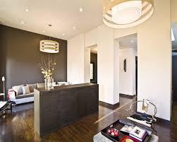recessed baseboards dark brown baseboards living room modern with dark floor dark floor
