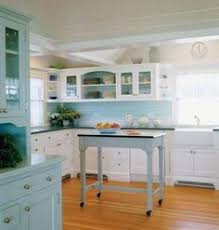 Light Blue Kitchen Backsplash by Colour Block Kitchen Design Wooden Cupboard And Kitchens