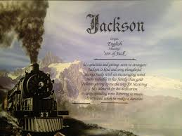 Home Decor Meaning First Name Meaning Art Print Jackson Name Personalized Train