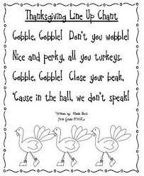 a lining up chant for november gobble kinder thanksgiving