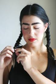 two ear hairstyle how to do frida kahlo makeup snapguide